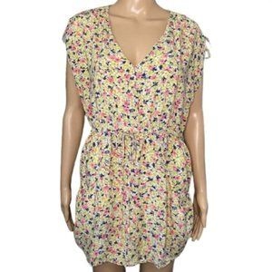 French Connection Floral Swim Cover Up w/ Pockets